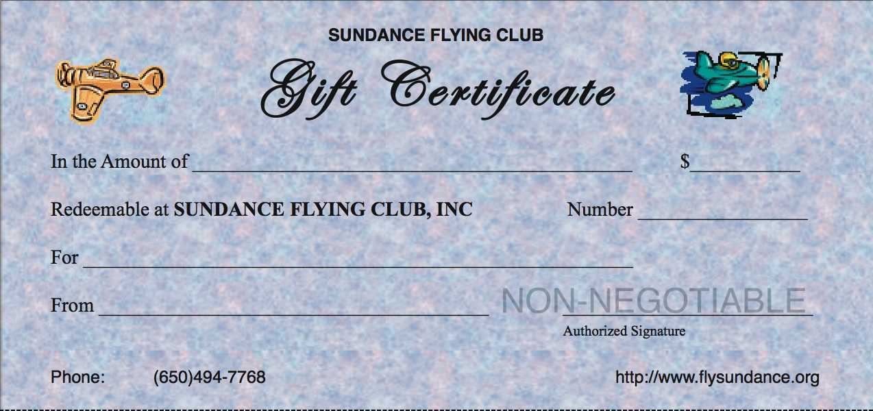 Give the gift of flight for any occasion